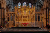 An altar at Ely Cathedral — Stock Photo
