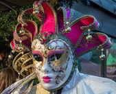 Venetian mask for sale at Winter Wondeland in Hyde Park — Stock Photo