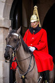 Lifeguard of the Queens Household Cavalry — Stock Photo