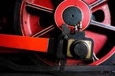 An Old Steam Train Wheel — Stock Photo