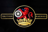 British Railways Logo on an Old Steam Train — Stock Photo
