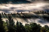 """Val d """"orcia üzerinde gündoğumu — Stok fotoğraf"""