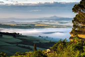"""Sunrise over Val d""""Orcia — Stock Photo"""