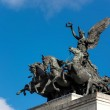 Постер, плакат: Monument to Wellington in the middle of Hyde Park Corner roundab