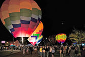 Evening balloon festival in Page Arizona — Stock Photo