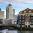 Stock Photo: Canary Wharf and other buildings in Docklands