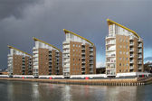 High rise apartments in Docklands London — Stock Photo