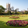 Stock Photo: View of Bury St.Edmunds cathedral being restored