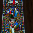 Stock Photo: Stained glass window Norwich Cathedral