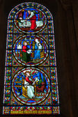 Stained glass window Norwich Cathedral — 图库照片