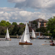 Sailing on River Thames near Kingston-upon-Thames Surrey — Stock Photo #39630281