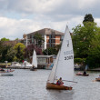 Sailing on River Thames near Kingston-upon-Thames Surrey — Stock Photo #39630321