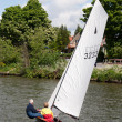 Sailing on the River Thames between Hampton Court and Richmond — Stock Photo #39630507