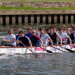 Stock Photo: Kingston Royals practising on River Thames between Hampton Court