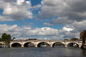 A view of Kingston Bridge spanning the River Thames — Stock Photo