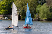 Sailing on the River Thames near Richmond Surrey — Stock Photo