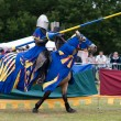 Stock Photo: Medieval jousting re-enactment event at Hop Farm