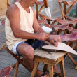 Stoolmaker in Lanzarote Canary Islands — Foto Stock