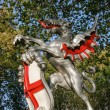 Stock Photo: Boundary Griffin on plinth at VictoriEmbankment London