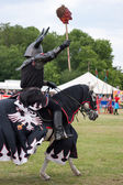 Black knight re-enactment at the Hop Farm Kent — Stock Photo