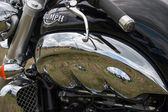 Close-up detail of Triumph Rocket III — Stock Photo