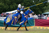 Medieval jousting re-enactment event at the Hop Farm — Stock Photo