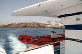 View from local ferry operating along the coast of Lanzarote — Stockfoto