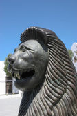 Smiling lion statue in Teguise Lanzarote — Stock Photo