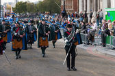 Irish pipers parading at the Lord Mayor's Show London — Stockfoto
