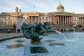 Tritons and dolphin fountain Trafalgar Square — Stock Photo