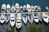 An assortment of boats and yachts in a marina at Monte Carlo — Stock Photo