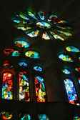 Stained glass La Sagrada Familia — Stock Photo