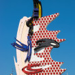 Roy Lichtenstein's sculpture of a face in Barcelona — Stock Photo