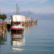 图库照片: Pleasure boat Lake Garda