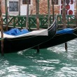 Gondolas moored in Venice — Stock Photo #39987499