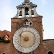 Stock Photo: Sun clock on building in Venice