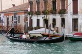 Gondola ride in Venice — Stock Photo