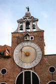 Sun clock on a building in Venice — Foto Stock