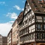 Pedestrianised shopping centre in Strasbourg — Stock Photo