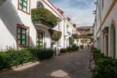 A street scene in Puerto de Mogan Gran Canaria — Foto Stock