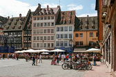 Busy square in Strasbourg — Foto de Stock