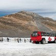 Brewster Ice Explorer parked on the Athabasca Glacier — Stock Photo