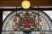 Edificio del parlamento de columbia británica vidrieras ventana — Foto de Stock