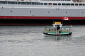 One of the many Victoria Habour ferries pottering along — Foto de Stock