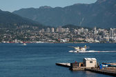Seaplane taxiing in Vancouver — Stock Photo