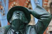 Sir John Betjeman statue on display at St Pancras International — Stock fotografie