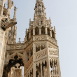 Spires and statues of Duomo Cathedral — Stock Photo #40284415