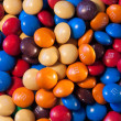 Close-up of some multicoloured M&Ms sweets — Stock Photo