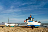 Fishing boats on Dungeness beach — Stockfoto