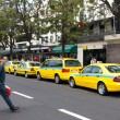 Stock Photo: Taxi rank in Funchal Madeira